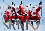 Діди Морози на крісельному витязі Буковель Карпати Новий Рік Різдво Клуб Мандрівників Bukovel New Year Cristmas