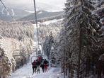 спуск на крісельному витягу КАРПАТИ зима Клуб Мандрівників
