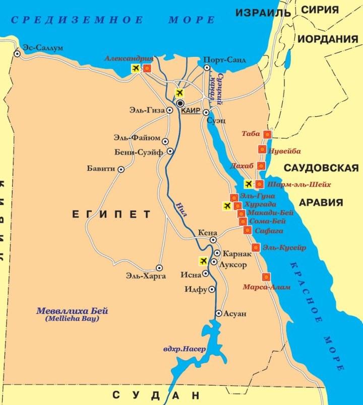 карта туристична ЄГИПЕТ Tours in EGYPT тури в Єгипет Egypt Клуб Мандрівників