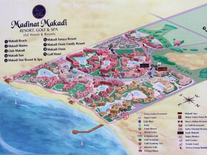 карта туристична Мадінат Макаді ЄГИПЕТ Tours in EGYPT тури в Єгипет Madinat Makadi Egypt Клуб Мандрівників