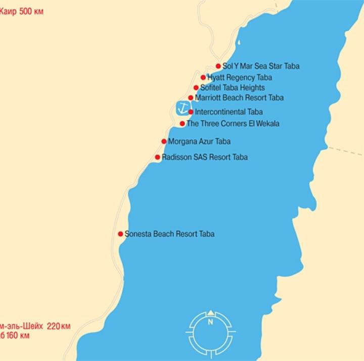 карта туристична Таба ЄГИПЕТ Tours in EGYPT тури в Єгипет Taba Egypt Клуб Мандрівників