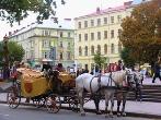конный экипаж проспект Свободы ЛЬВОВ экскурсионный тур1 мая Майские праздники во Львове Клуб Мандривныкив