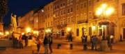 площадь Рынок ночью ЛЬВОВ экскурсионный тур по Львову Улочками Древнего Львова Клуб Мандривныкив UKRAINE LVIV