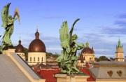 крыша Оперного Театра ЛЬВОВ экскурсионный тур Замки и Дворцы Львовщины Клуб Мандривныкив LVIV UKRAINE