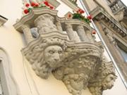 балкон на площади Рынок ЛЬВОВ экскурсионный тур Замки и Дворцы Львовщины Клуб Мандривныкив LVIV UKRAINE
