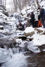 ВОДОСПАД ШИПОТ зима НОВОРІЧНІ ТУРИ Карпатські Витинанки Клуб Мандрівників