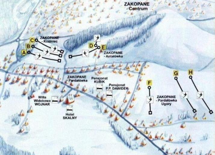 карта-схема горнолыжного